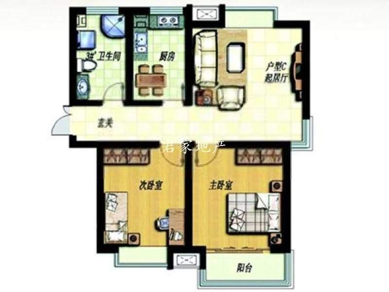 八士华夏青城 精装两室两厅 南北通透可落户,首付低