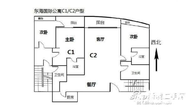东海国际公寓 售价1250万 复式豪装大3房 印证格外尊荣