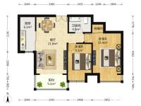 保利达江湾城 两室精装两室有钥匙随时方便看房 拎包入住