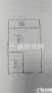 城东华城小区标准单身公寓带阳台家电配齐