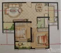 绿地世纪城湖景房2室2厅 出售,看中,价格可谈