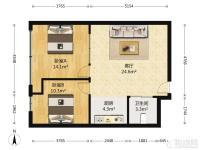 此房西向 精装修 两室一厅一厨一卫 采光充足。