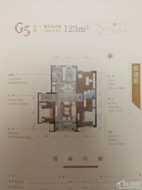保利紫荆公馆,高层18层封顶经典户型,122.58平速联