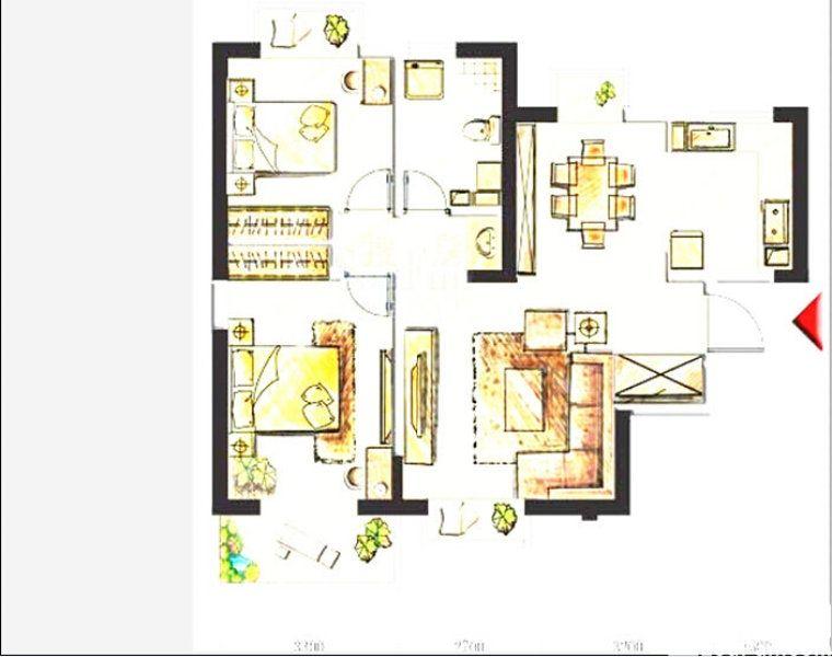 黄河家园112平米 全新毛坯房 两室两厅 急出售