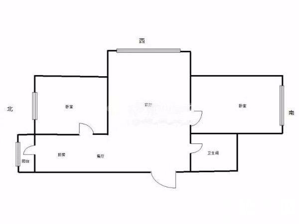 哈西涧桥西畔继红校中层简装通透两室南北西向临近万达商圈地铁