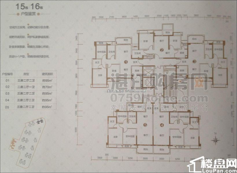 霞山保利原点广场 3室2厅2卫 101平方