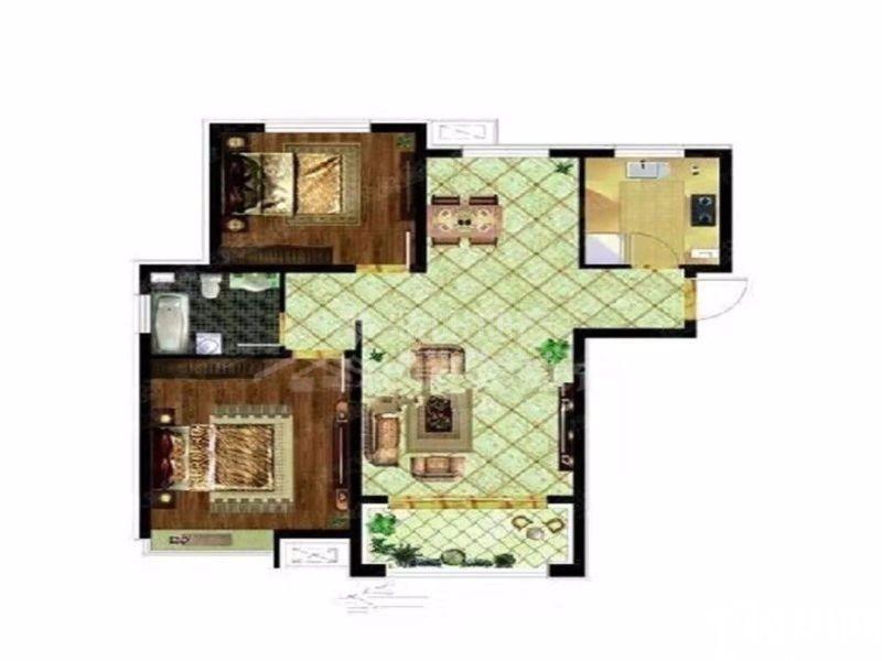 哈西东方新天地继红校中层精装通透两室拎包即住带80米外阳台