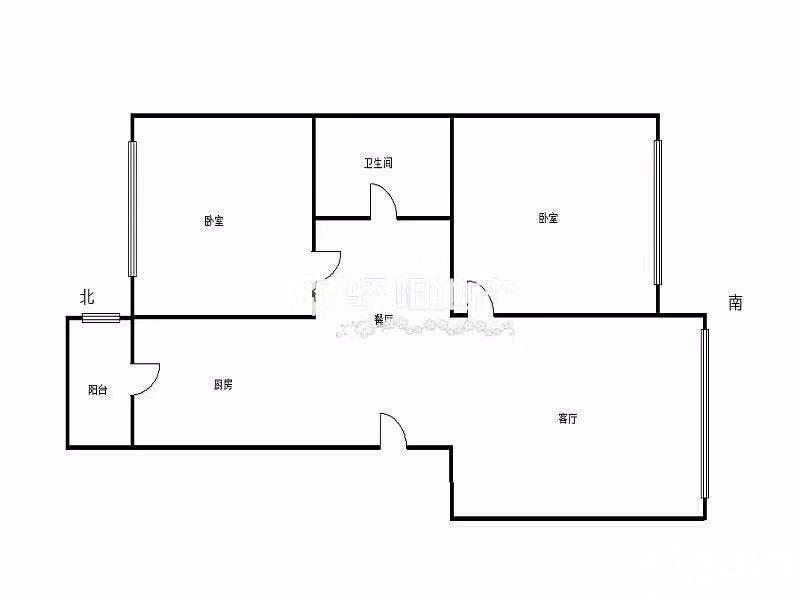 哈西巴黎第五区继红校中层精装通透两室带储藏间拎包即住临近宜家