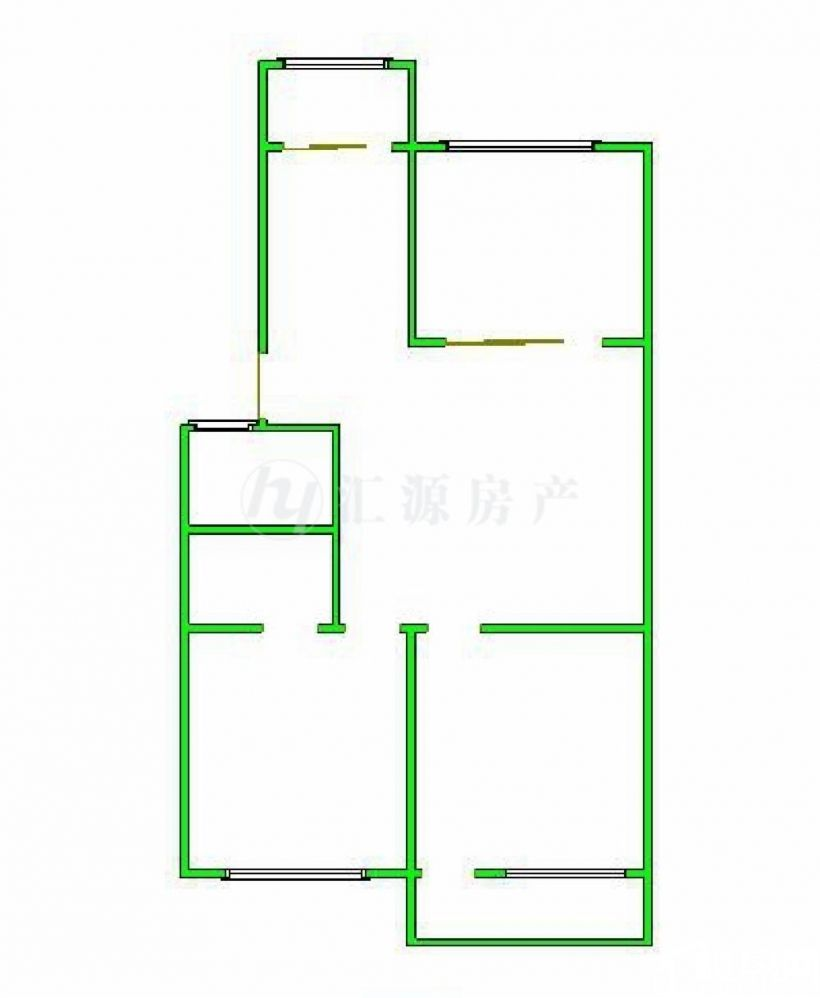 六一路特艺城、边三房框架 首付35万 银行估价2万