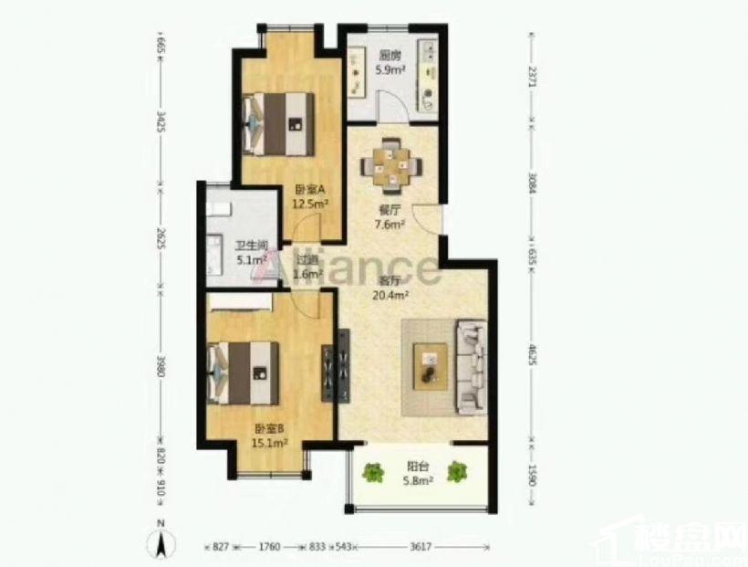 新增阳光园,精装两室,带全套的家具家电,次顶楼层好