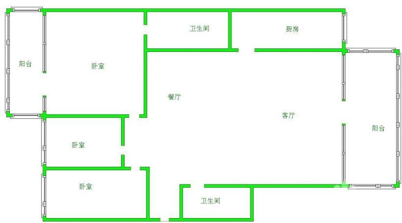 超值急租  花香上海城精装 3室2厅2卫全家电拎包入住可停车