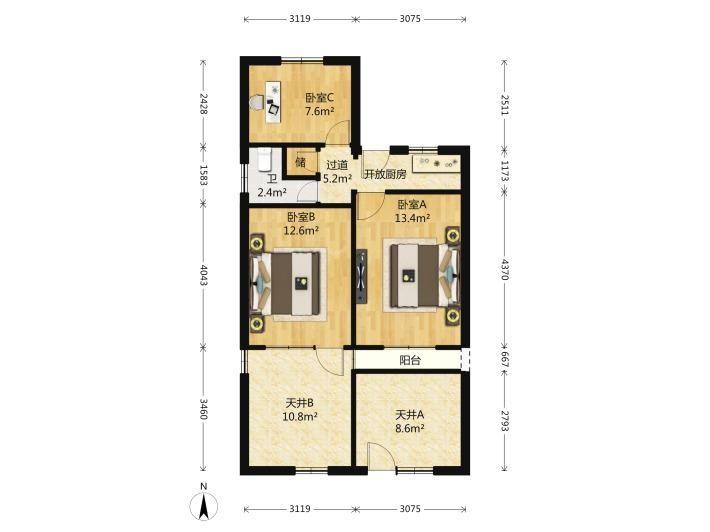 兴隆枫丹白鹭枫丹园家电齐全 大三室两厅,舒适环境等你享受