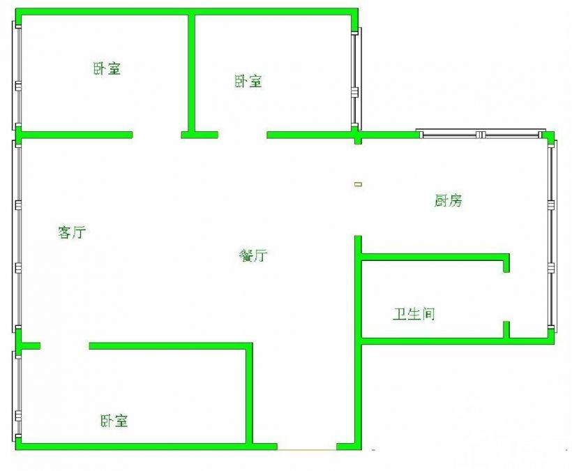 急租省医亨特国际万东桥护国路 3室全家具家电拎包入住出入方便