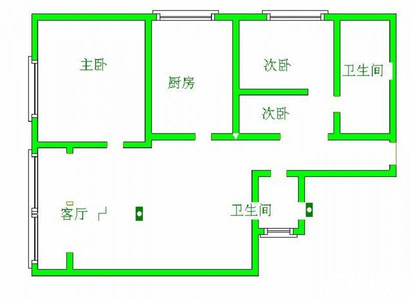 鸿基花园110平3楼4室2厅1卫全家电仅租2500元拎包入住