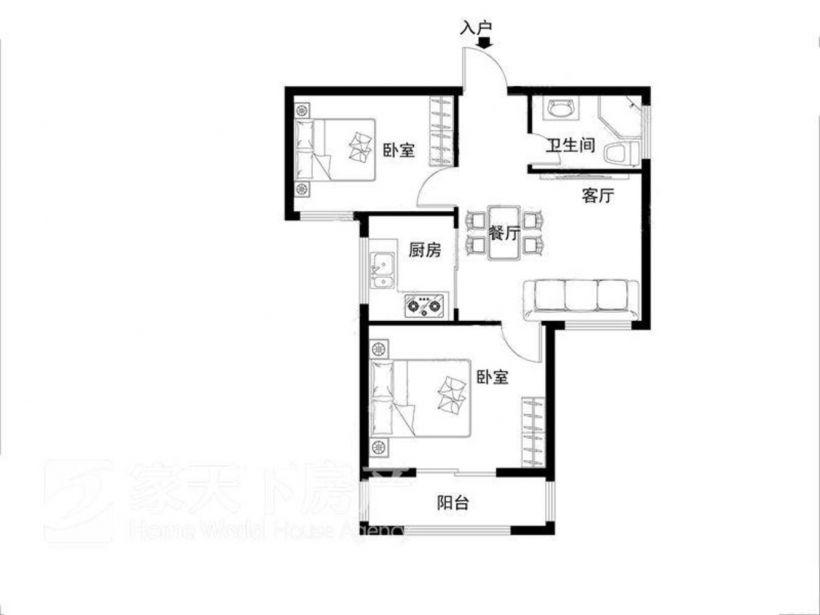 世欧王庄四区 2房 精装修 拎 包住 家电齐全 多套 对比