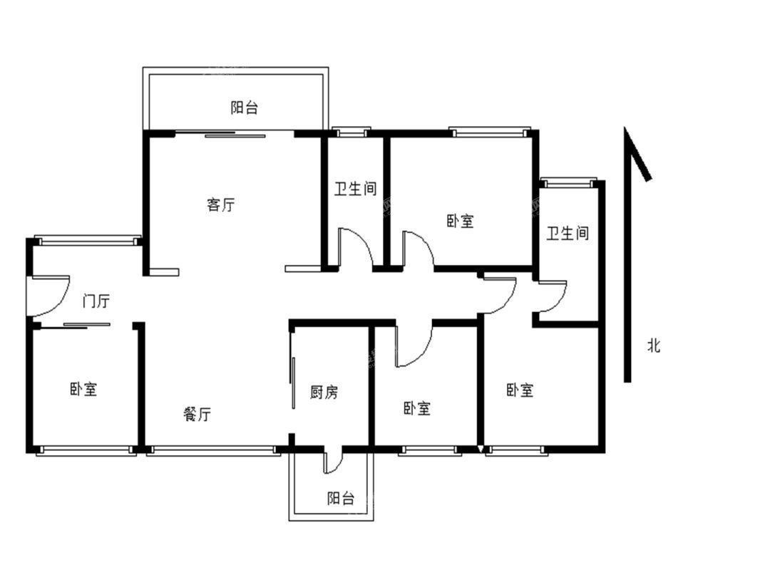 京基城二期 精装4室2厅 20楼 采光好