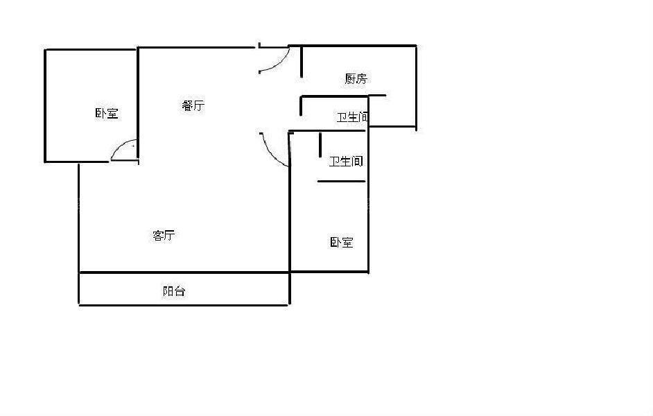 武汉天地御江璟城 高层两房两厅 房东诚心出售