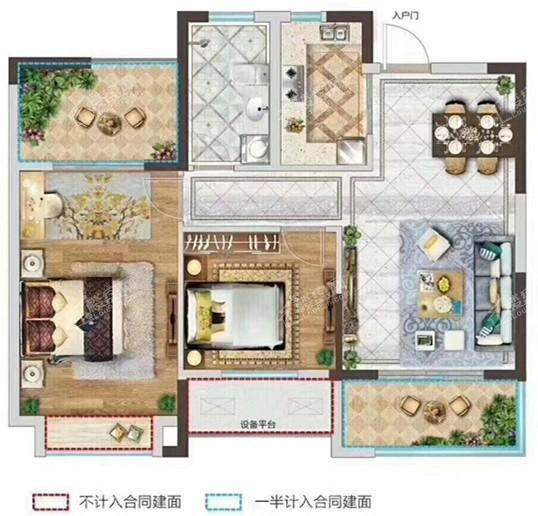 青山翠谷84平丨方正户型丨可改三室丨小高层丨一万出头
