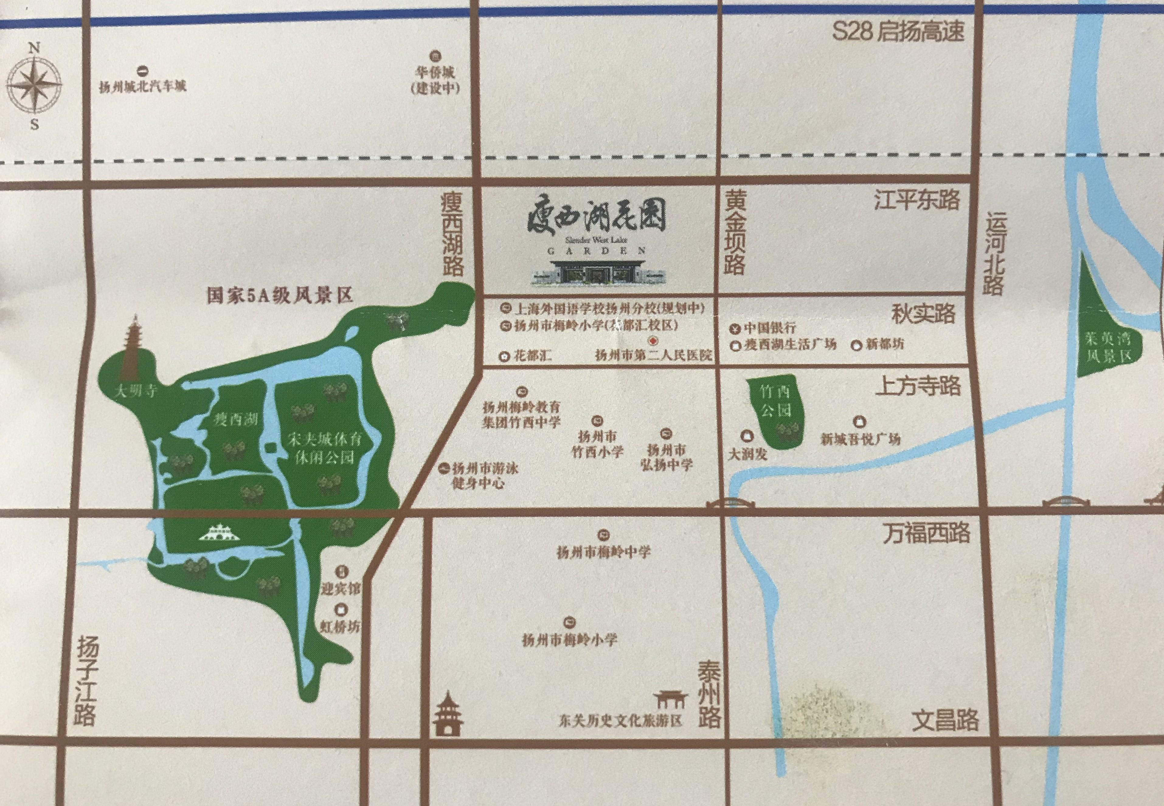 瘦西湖花园位置图