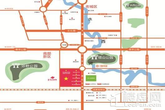 贵州同心商贸城交通图