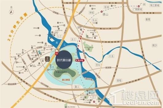 时代雁山湖交通图