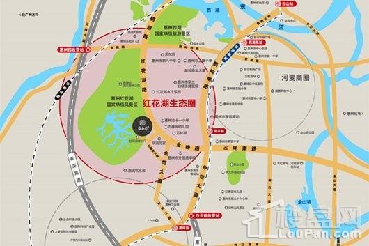 蓝光雍和园交通图