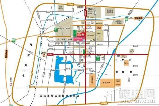 万达广场·欢乐小镇交通图