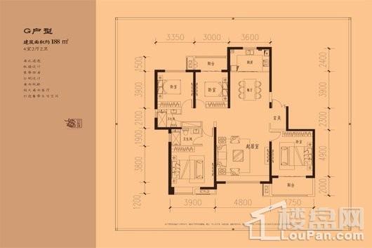 中心城·状元府邸G户型 4室2厅2卫1厨