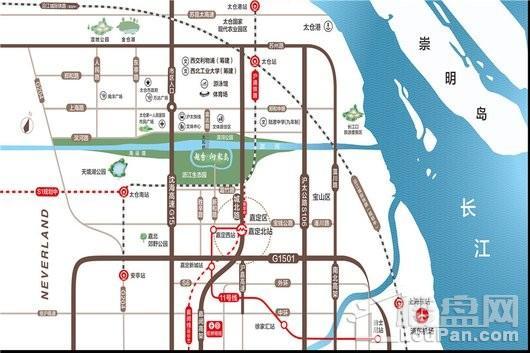 越秀·向东岛交通图