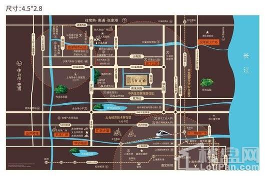 五洋公元府交通图