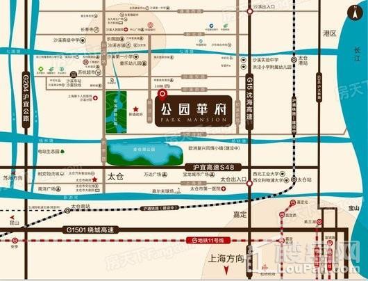象屿公园华府交通图