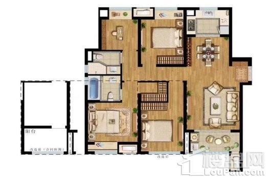 中海寰宇天下二期C1户型 4室2厅2卫1厨