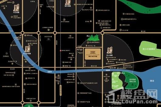 融创枫丹御园交通图