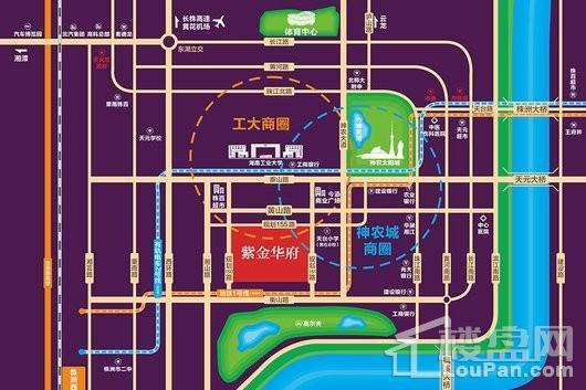 紫金华府交通图