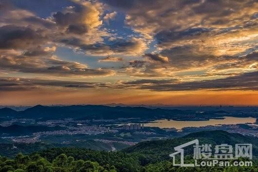 丰泰观山碧水实景图