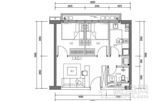 奥园领寓户型图