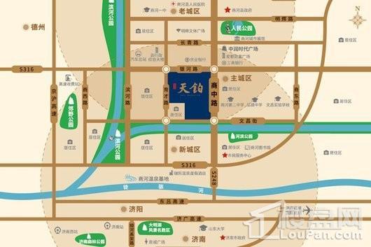 商河红星天铂交通图