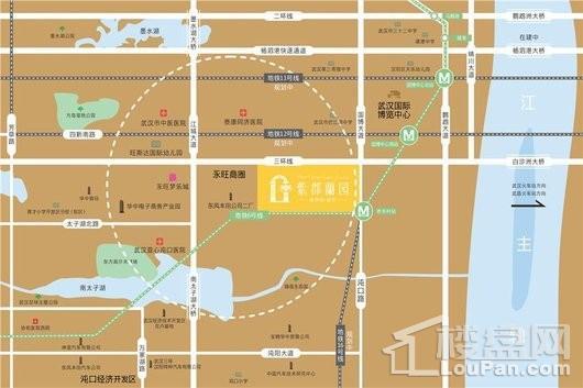 葛洲坝·紫郡蘭园交通图