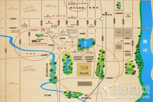 韩城绿地城交通图