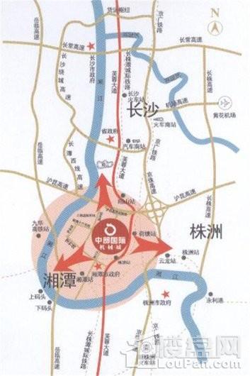 中国(中部)岳塘国际商贸城交通图