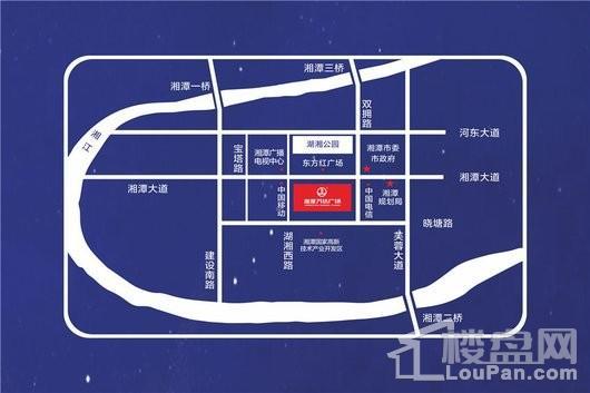 湘潭万达广场(湘潭金街)交通图