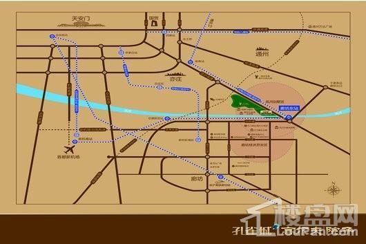孔雀城高尔夫院子交通图