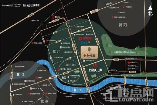 中央悦府交通图