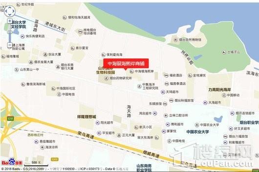 中海银海熙岸商铺交通图