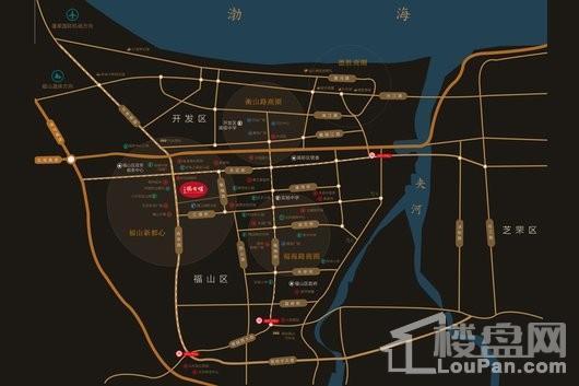 中海悦公馆商铺交通图