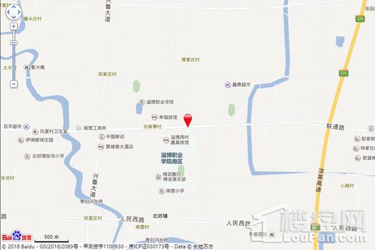 张江·淄博科技产业园交通图