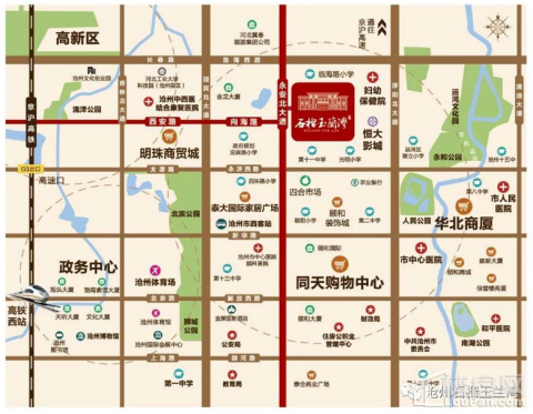 沧州石榴玉兰湾位置图