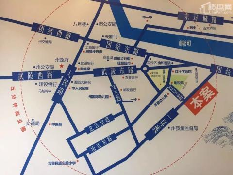 湘鹏•福中里位置图