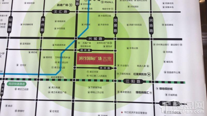 润茂国际广场香寓位置图