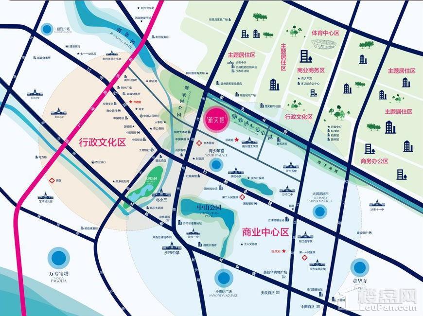 荆州新天地位置图